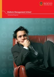 International Prospectus - Waikato Management School - The ...