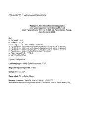 Disposition for rapport over undersøgelser - Forsvarskommandoen