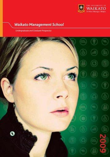 2009 Undergraduate & Graduate Prospectus - PDF - Waikato ...