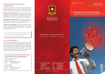 Management Communication Major - Waikato Management School ...