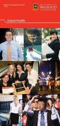 School Profile - Waikato Management School - The University of ...