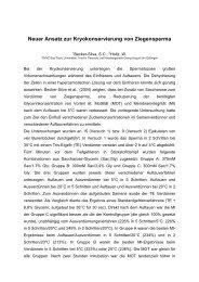 Neuer Ansatz zur Kryokonservierung von Ziegensperma - AET-d