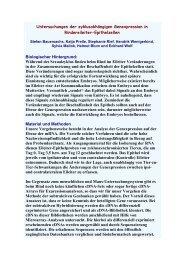 Untersuchungen der zyklusabhängigen Genexpression in ... - AET-d