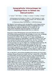Sonographische Untersuchungen bei Empfängertieren im ... - AET-d