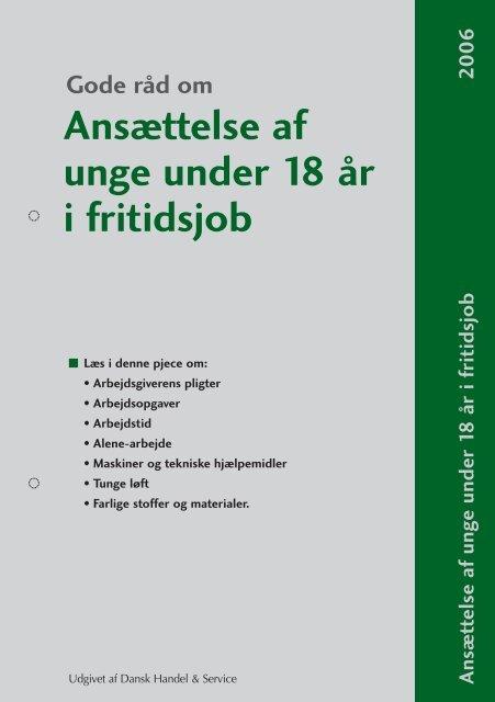 Ansættelse af unge under 18 år i fritidsjob