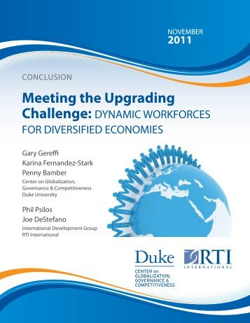 Meeting the Upgrading Challenge - Center on Globalization ...