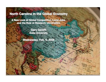 North Carolina in the Global Economy - Center on Globalization ...