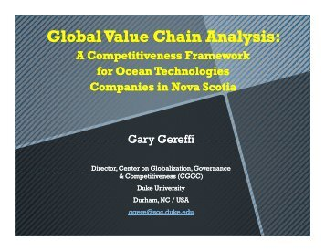 Global Value Chain Analysis: - Center on Globalization, Governance ...
