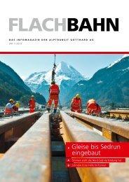 Flachbahn - Uri 1/2013 - AlpTransit Gotthard AG