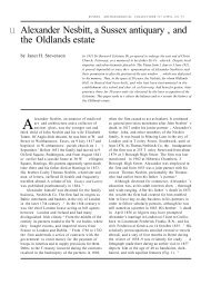 Alexander Nesbitt, a Sussex antiquary , and the Oldlands estate