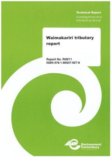 Waimakariri tributary report - Environment Canterbury
