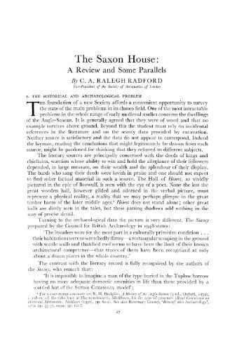 The Saxon House: - Archaeology Data Service