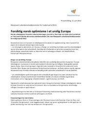 Forsiktig norsk optimisme i et urolig Europa