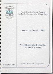 Areas of Need 1994 Neighbourhood Profiles - Source