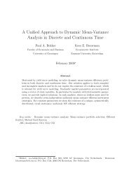 A Unified Approach to Dynamic Mean-Variance Analysis in Discrete ...