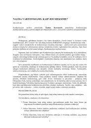 pranešimas - LR Konkurencijos taryba