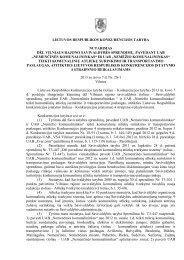 nemenčinės - LR Konkurencijos taryba