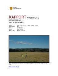 RAPPORTARKEOLOGISK REGISTRERING - Kulturarv
