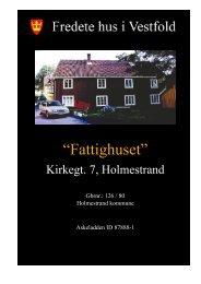 Rapporten om Fattighuset - Kulturarv