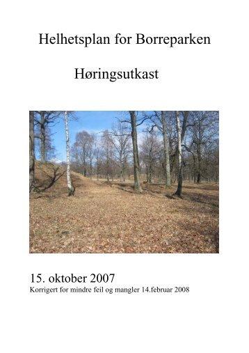 Helhetsplan for Borreparken 2007-2015 - Kulturarv
