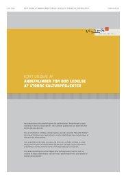 kort udgave af anbefalinger for god ledelse af større kulturprojekter