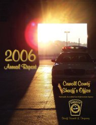 Annual Report 06 inside.indd - Carroll County Government