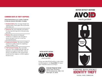 Fighting Back Against Identity Theft