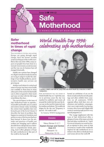 Issue 26 1998 (2) safe motherhood - World Health Organization
