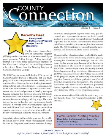County Connections Newsletter - Carroll County Government