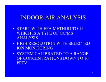 INDOOR-AIR ANALYSIS - CLU-IN