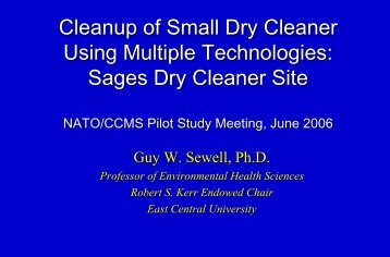 Cleanup of Small Dry Cleaner Using Multiple Technologies - CLU-IN
