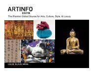 The Premier Global Source for Arts, Culture, Style, & Luxury - Artinfo