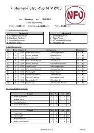 7. Herren-Futsal-Cup NFV 2013