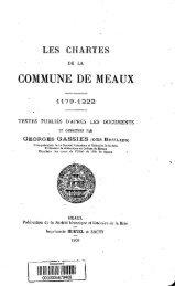 Les chartes de la commune de Meaux, 1179-1222 - Bibliothèque ...