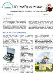 Schülerzeitung Ausgabe 1-2009.pdf - Freie Schule im Burgenland ...