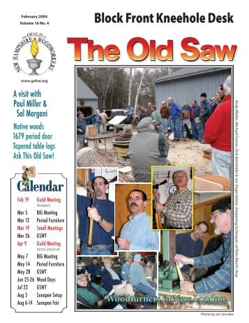 Old Saw 16-4.indd - The Guild of New Hampshire Woodworkers