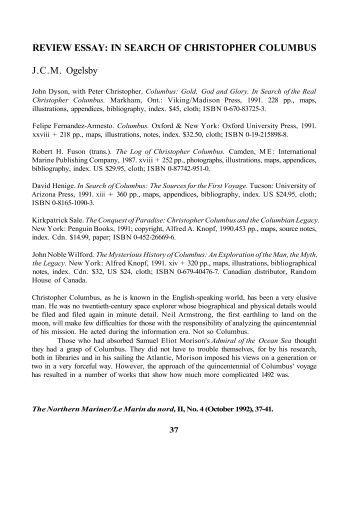 Essays on christopher columbus