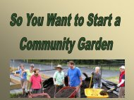 So You Want to Start a Community Garden - Orange County ...