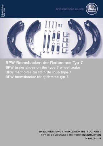 Bedienungs- und Montageanleitung - BPW   Bergische Achsen KG