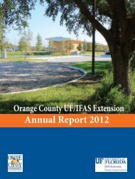 Annual Report 2012 - Orange County Extension Education Center ...