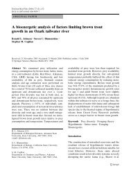 A bioenergetic analysis of factors limiting brown trout growth in an ...