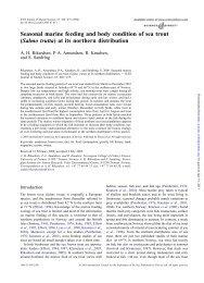 Seasonal marine feeding and body condition of sea trout (Salmo ...