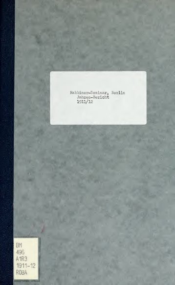 A1R3 1911-12 ROBA - University of Toronto Libraries