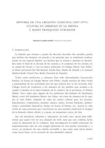 Historia de una creación colectiva - Institución Fernando el Católico