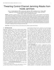 ieee transactions on mobile computing, vol. x, no - University of ...
