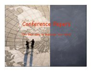 Conference Papers - University of Arizona