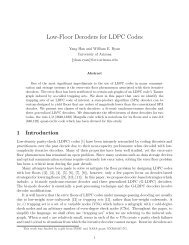 Low-Floor Decoders for LDPC Codes - University of Arizona