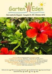 Das wedische Magazin . Ausgabe Nr. 45 / Oktober ... - Garten Weden