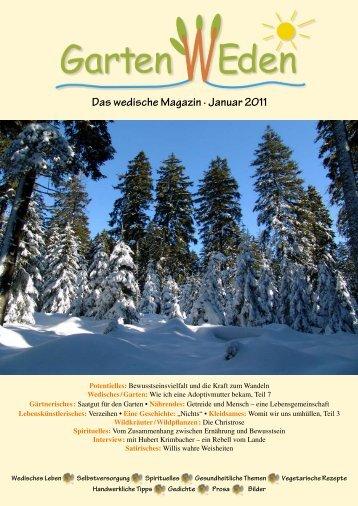 Das wedische Magazin . Januar 2011 - Garten Weden