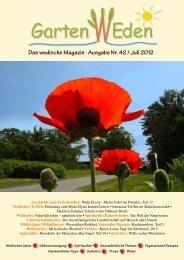 Das wedische Magazin . Ausgabe Nr. 42 / Juli 2012 - Garten Weden
